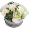 Florarie online, livrare flori, cutie flori, aranjament floral, trandafiri albi