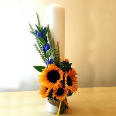 Lumanare nunta - cununie - florarie online - eveniment Bucuresti