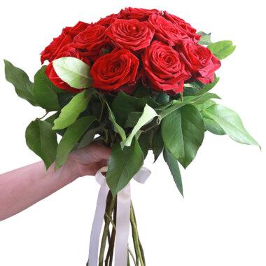 Buchet trandafiri rosii - florarie online - livrare - flori inmiresmate