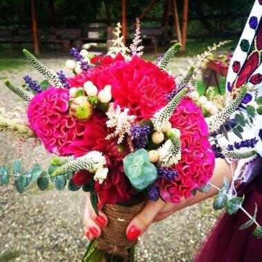 Buchet nasa - florarie online - buchet mireasa - lavanda