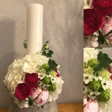 Lumanare nunta - florarie online - buchet