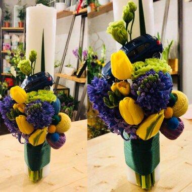 Lumanare botez - florarie online - livrare flori Bucuresti - Chiajna