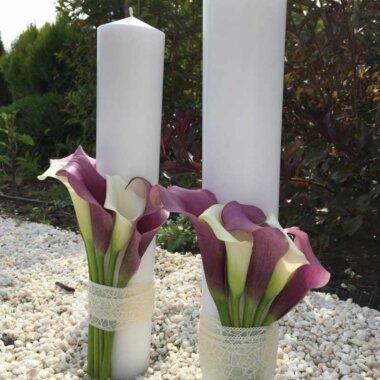 Lumanare cununie - florarie online - livrare flori - cale - aranjament masa