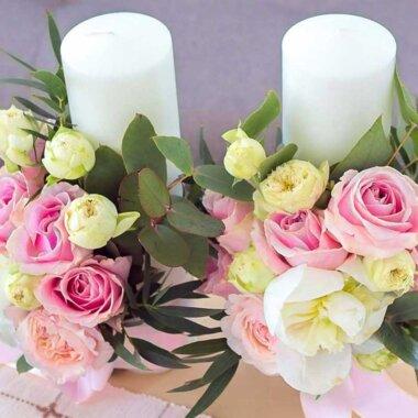 Florarie online Bucurasti - livrare flori naturale - lumanare nunta