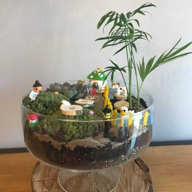 Terrarium - florarie online - buchet flori - mini gradina - livrare
