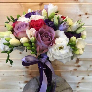 Buchet mireasa ieftin - buchet nasa - flori naturale