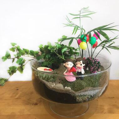 Buchet de flori - florarie online - livrare flori - terrarium