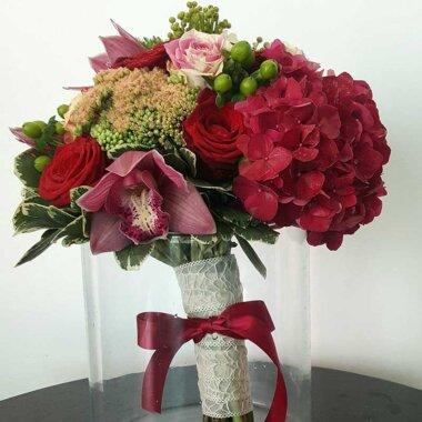 Buchet de flori - buchet mireasa/nasa - florarie online - hortensie