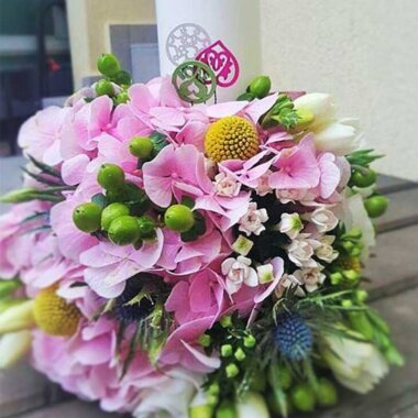 Lumanare botez - florarie online - aranjament unic