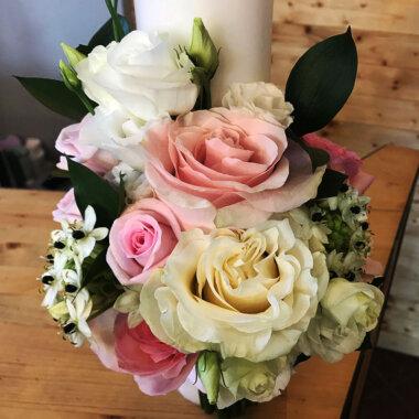 Lumanare botez, trandafiri, livrare flori, florarie Bucuresti