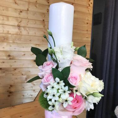Buchet mireasa, lumanare nunta, flori naturale, livrare Bucuresti