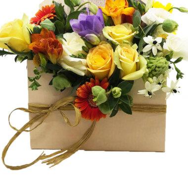 Florarie online - cutie flori - aranjament floral - cadou unic - livrare