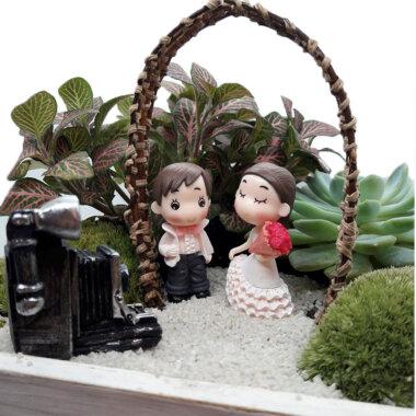 Terrarium - livrare flori Bucuresti - idee cadou nunta - mini gradina