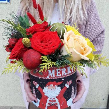 Aranjament Craciun - Cutie Flori