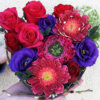 Suport inima Trandafiri Gerbera