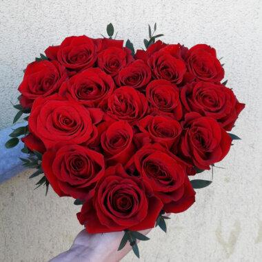Cutie Flori - Trandafiri Rosii