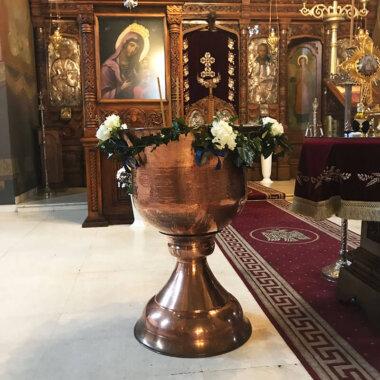 Aranjament cristelnita flori naturale Bucuresti