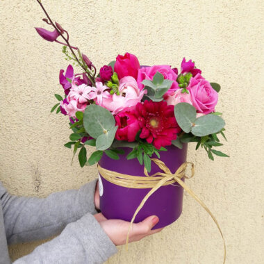 Orhidee - Trandafir - Cutie flori