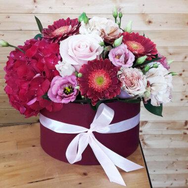 Cutie flori Bucuresti Hortensie