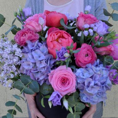 Cutie flori Bujori - Hortensie