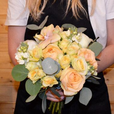 Buchet - Peach avalanche - Trandafiri