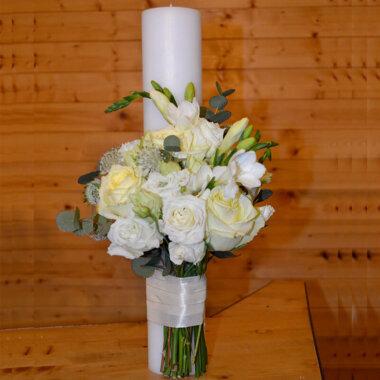 Lumanare nunta trandafiri galbeni - Bucuresti