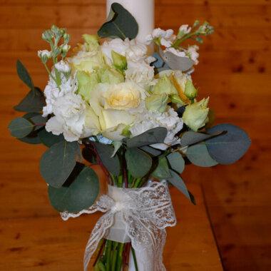 Lumanare nunta trandafiri - matthiola - Bucuresti