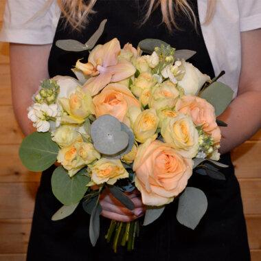 Buchet mireasa/nasa bujori - trandafiri