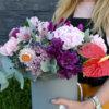 Cutie flori Bujori - Garoafe - Euchalipt