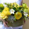 Cutie flori catifea - trandafiri - frezii