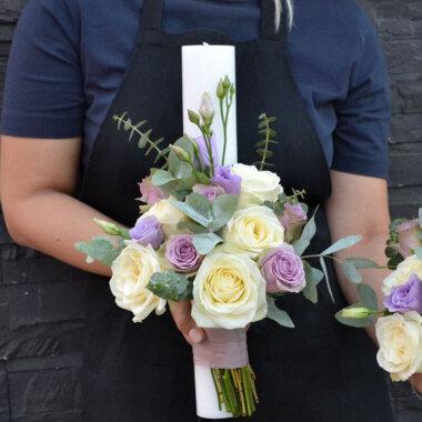 Lumanare nunta trandafiri - dragoste - armonie