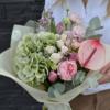 Buchet flori naturale unice - hortensie - waxflower