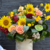 Cutie flori floarea soarelui - frezii - crini