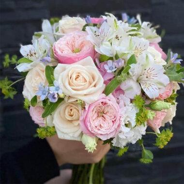 Buchet cununie Trandafiri gradina - Trandafiri Avalanche