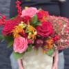 Cutie flori Trandafiri rosii - Hortensie